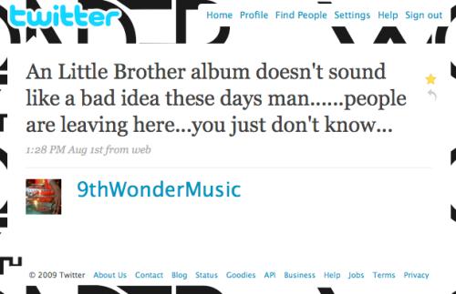 9th wonder little brother album tweet